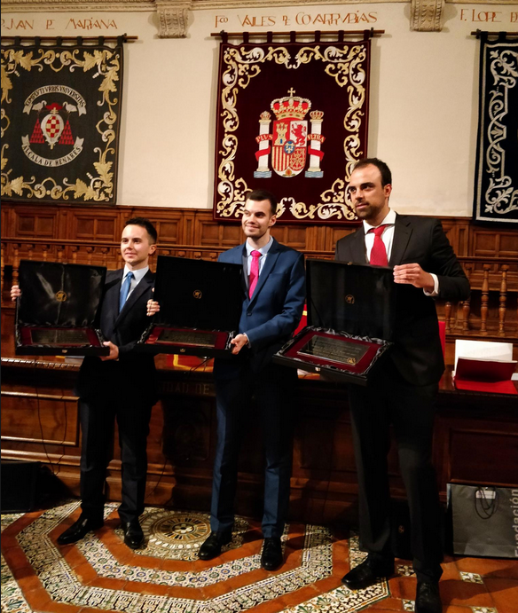 Carlos Gómez Huélamo receives the 2019 Technological Innovation Award